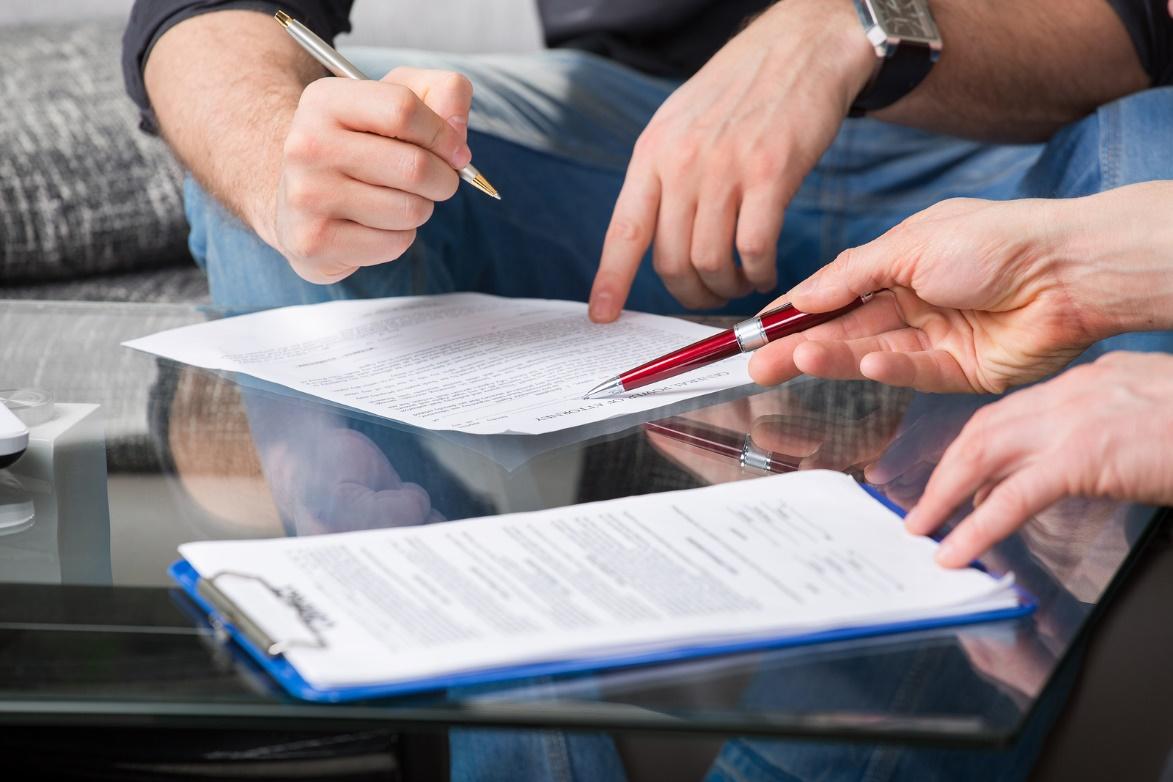 Предоставление пакета документов для открытия счета