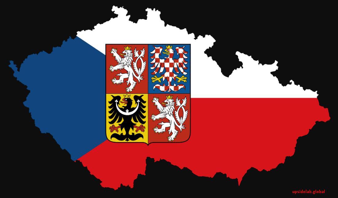 Контур границ Чехии и символика страны