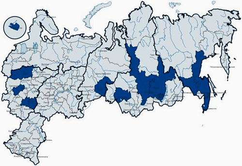 География регионов, подпадающих под программу переселения соотечественников
