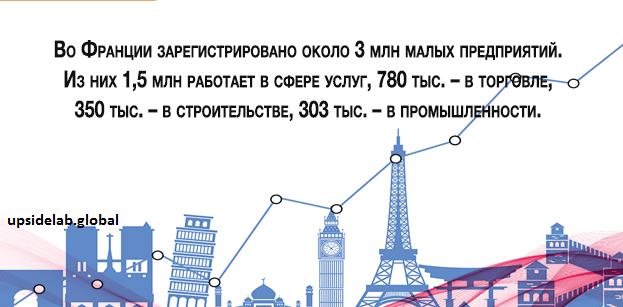 В каких сфера чаще всего регистрируются компании и индивидуальные предприниматели Франции