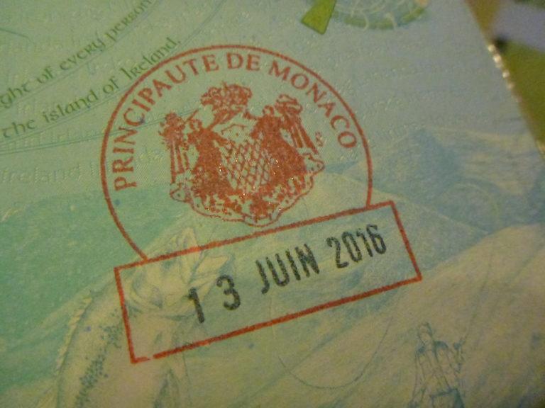 Въезд в княжество Монако, особенности