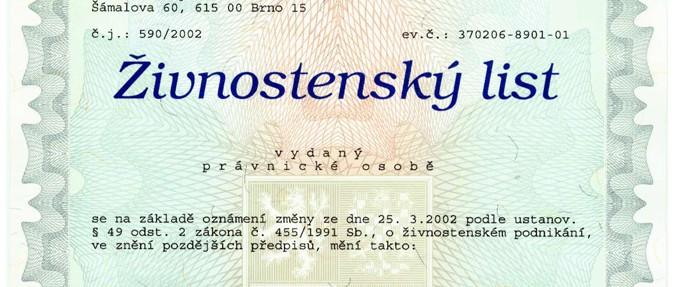 Виды лицензий в Чехии