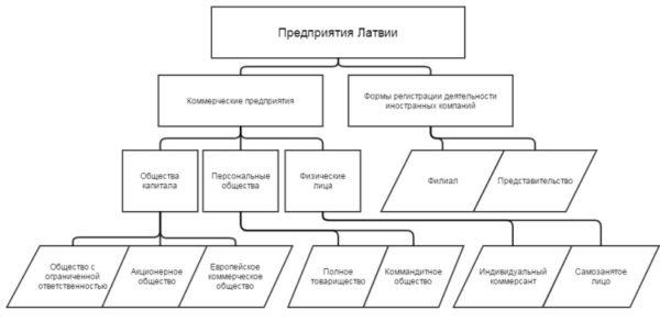 Структура латвийских форм собственности