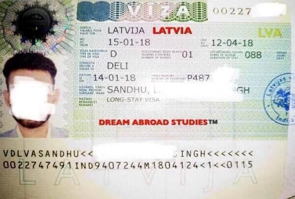 Национальная виза в Латвию