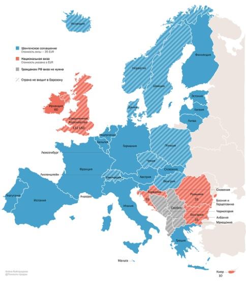 Страны-участницы Шенгенского соглашения