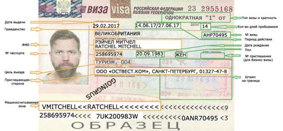 Так выглядит виза в РФ