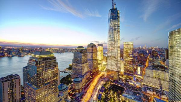 Вид на здания Манхеттена, США