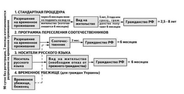 Чем отличается натурализация на общих основаниях от упрощенной процедуры